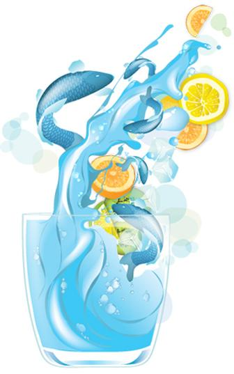 Draw realistic liquids in vector art