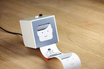Berg's web-driven Little Printer produces little lists to help your day