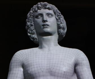 Renaissance sculpture Adam brought to interactive life with mocap and digital puppetry