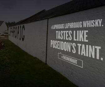 Love or hate Laphroaig whisky? See your opinion projected onto the distillery's wall