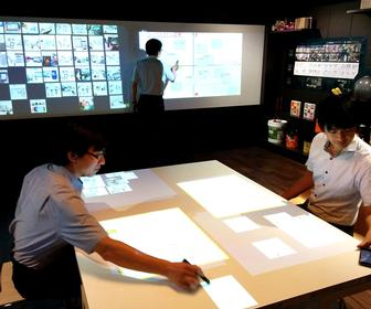 Fujitsu's brainstorm room lets you draw and write on the walls
