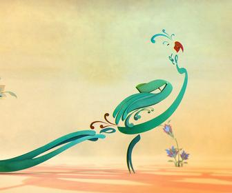 This elegant animation uses birds created from Persian calligraphy to explore self worth