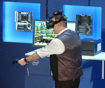Intel demos wireless HTC Vive VR headset