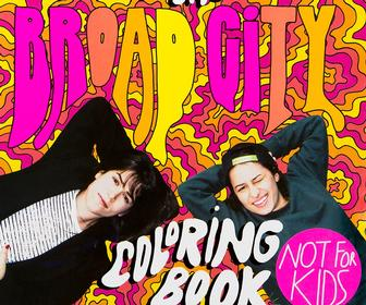 Artist Mike Perrys 'trippy' Broad City colouring book is best shared with friends