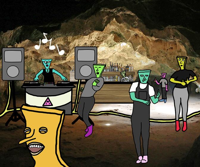 Artist Kelton Sears on storytelling through GIFs with his wonky web comic Trash Mountain