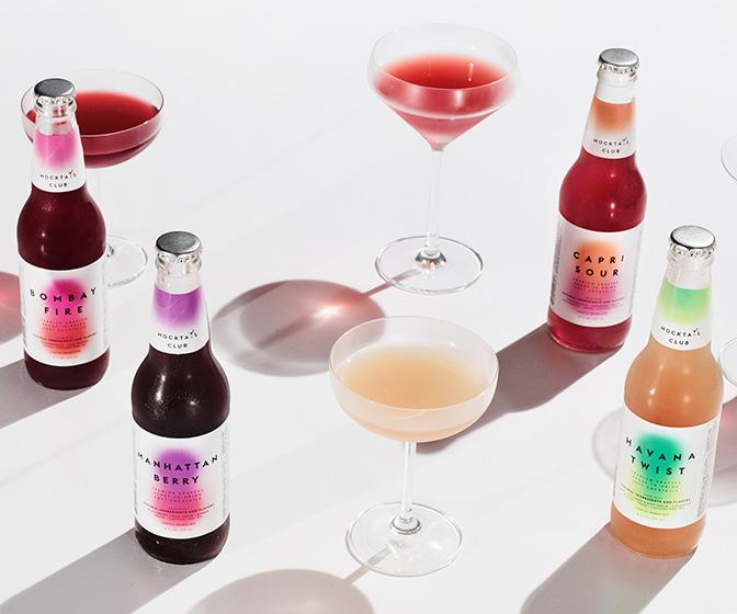 Mocktail Club's colourful branding shows alcohol-free can still be fun