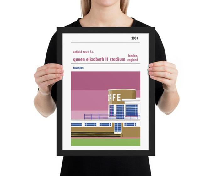 Back of the net! The beauty of football stadiums is celebrated in designer Steve Stewart's prints