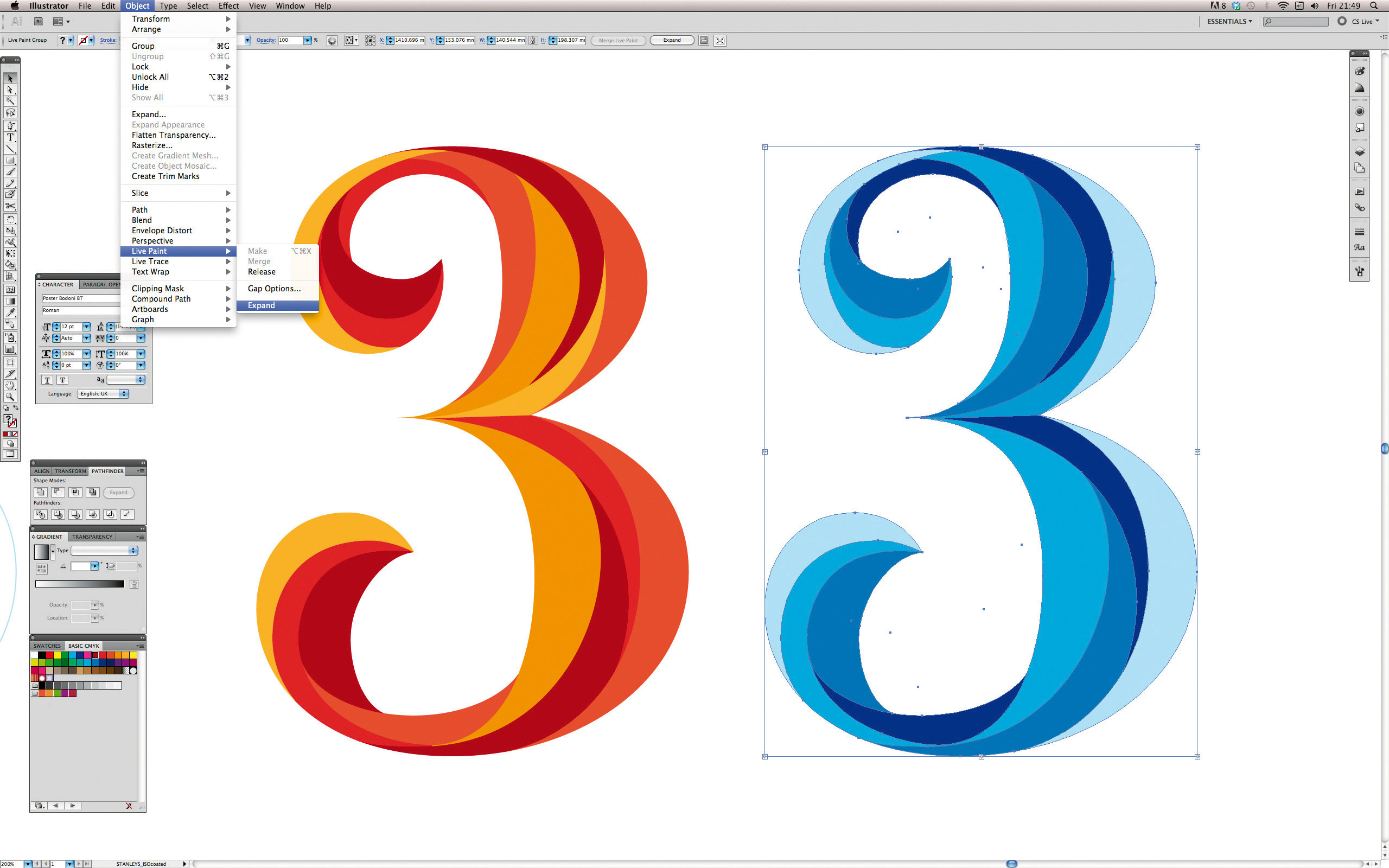 adobe illustrator & photoshop tutorial: master illustrator's blend