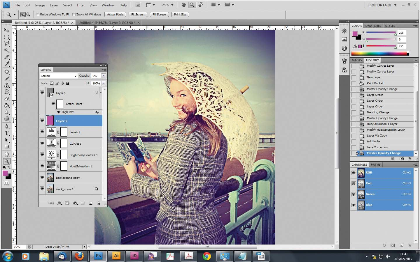 photoshop how to add airbrush effect