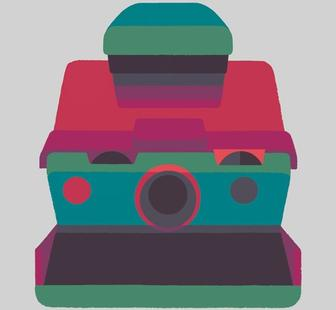 Eye-catching illustrated prints celebrate the form of classic cameras