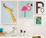 Build designs fun Animal A-Z prints for kids and grown-ups alike
