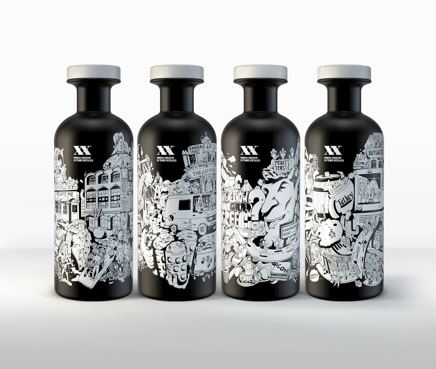 see the awesome whisky bottles designed for purple 39 s 20th