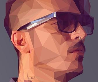 Create a low-poly portrait