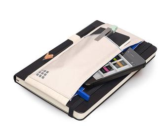 Moleskine Tool Belt lets you strap your pens and phone to your notebook