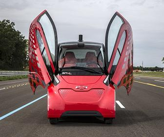Chevrolet's EN-V 2.0 self-driving concept car looks like a motorised ladybird