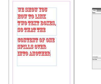 How to link text boxes in InDesign
