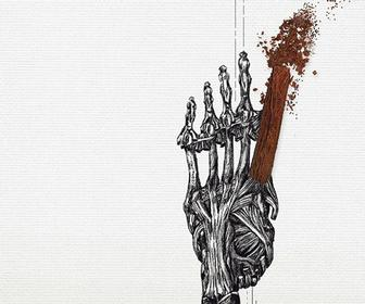 Asma Javeri's artworks mix anatomical drawings with chocolate