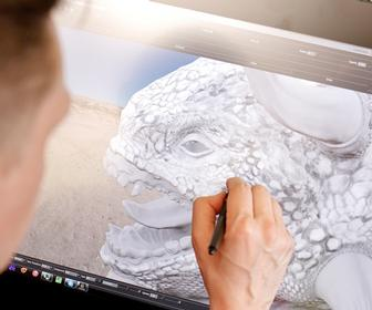 Wacom Cintiq 27QHD: LipSync texture artist Marque Pierre Sondergaard reveals how great painting is on the tablet display