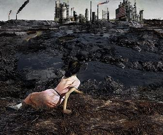 KennardPhillipps creates horrific versions of famous artworks for latest Greenpeace anti-Shell campaign
