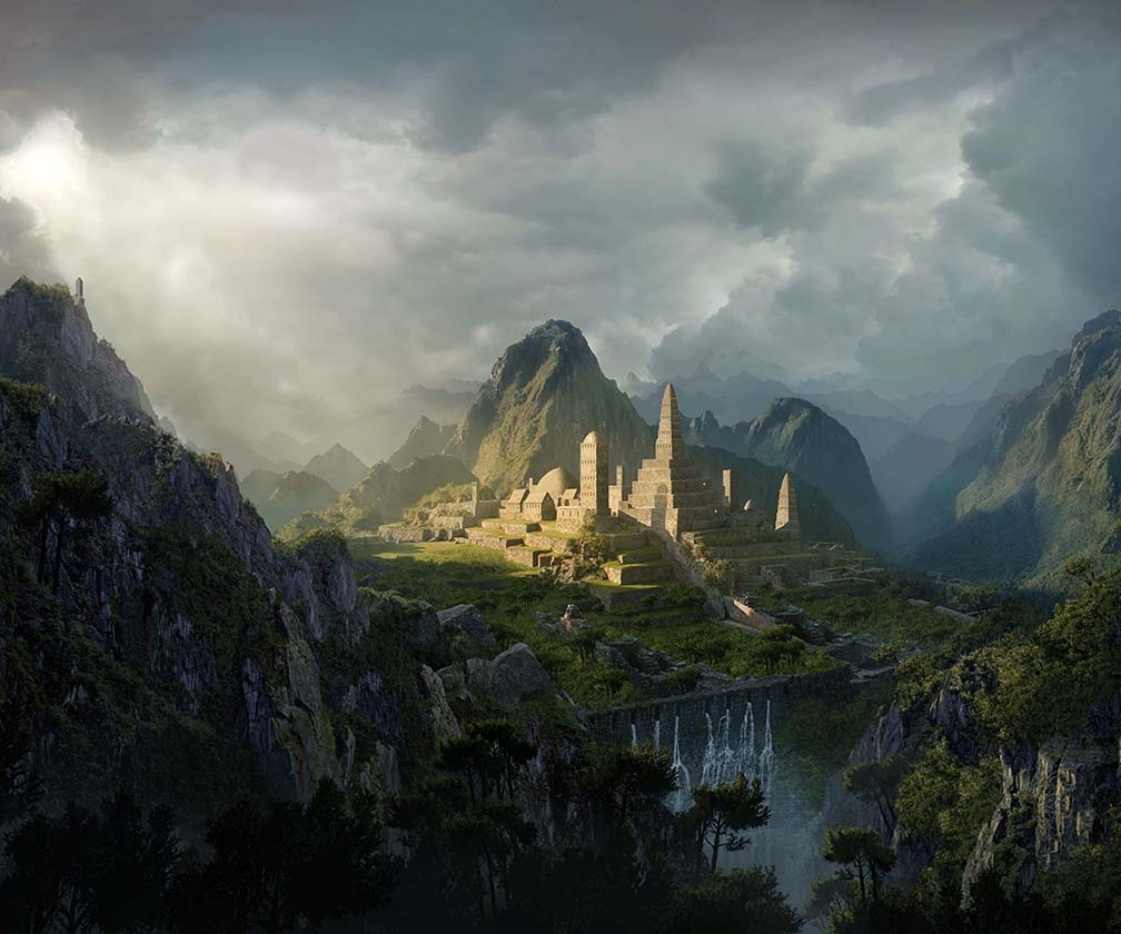 Create an epic digital matte painting