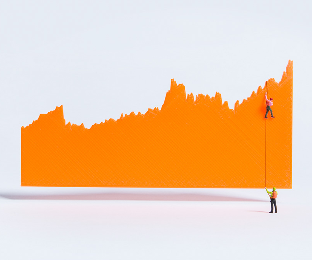 These playful, funny 3D printed infographics can liven up any data