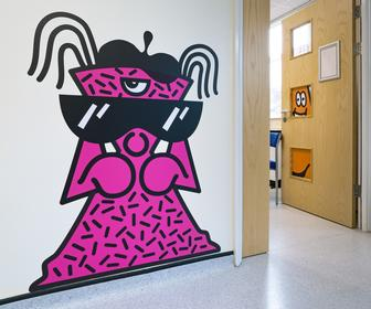 This Illustrator Duo Has Created a Giant Hide-&-Seek Game at a Childrens Hospital