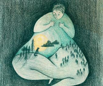 Sonja Stangl's illustrations explore what intimate human emotion looks like
