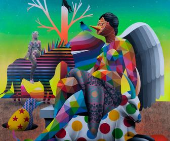 Okuda explores ancient Greek mythology in London solo show