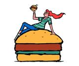 Andrew Rae, Alice Bowsher & Alec Doherty's playful illustrations for Byron Hamburgers' new site