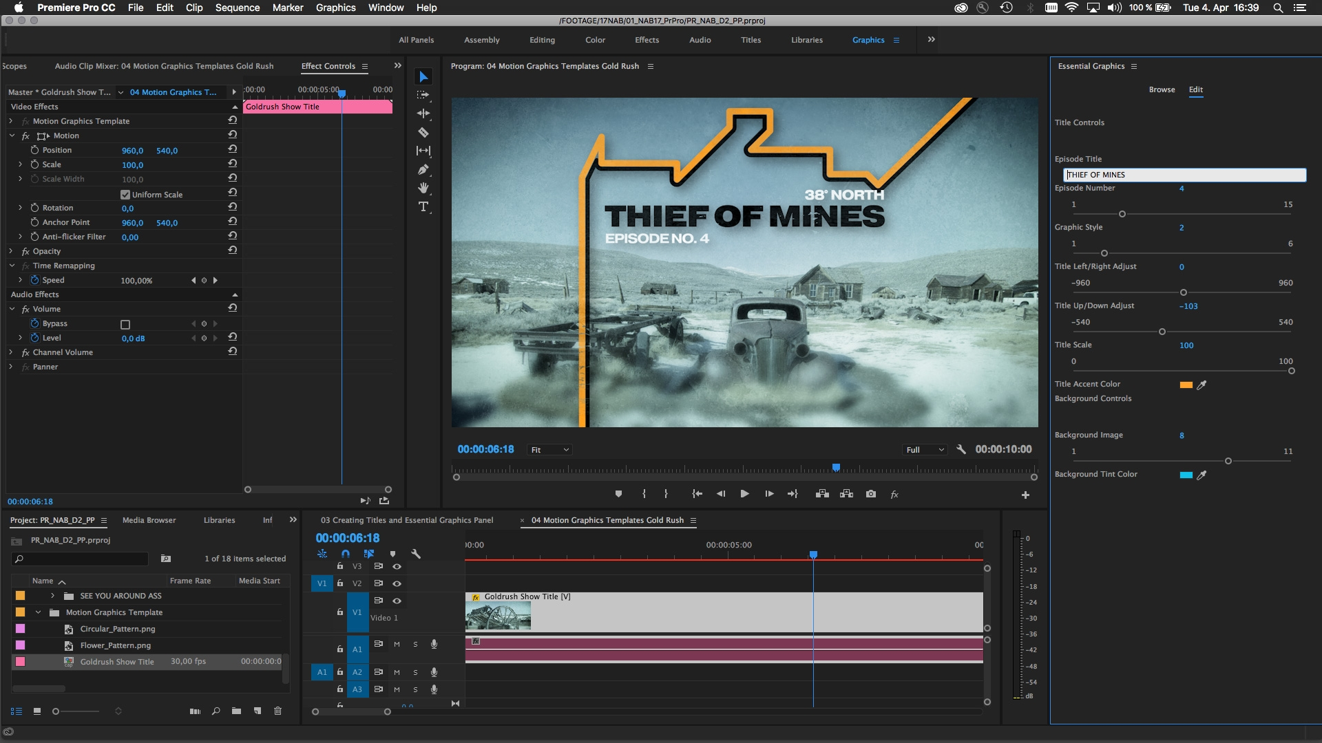 after effects and premiere pro cc 2017 updated to make motion