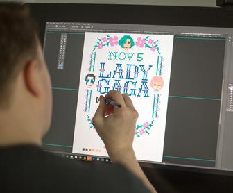 How illustrator Aled Lewis designed gig-promoting cross-stitch posters