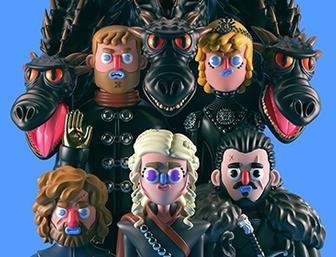 Game of Thrones characters as brilliant claymation-style models