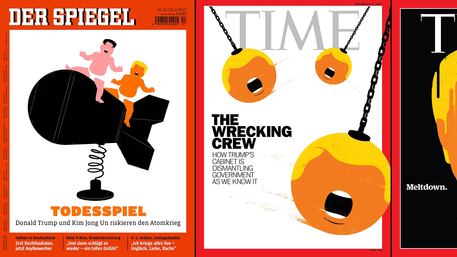 The illustrator of famous donald trump der spiegel and for Der spiegel spanien