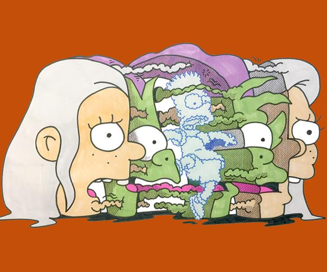 Cult artists have created promo art for Matt Groening's new Netflix show Disenchantment