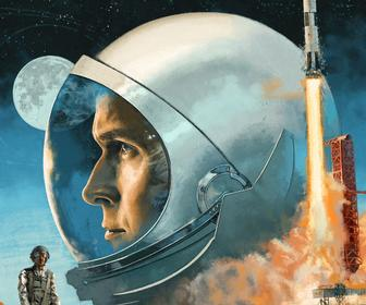 This First Man soundtrack vinyl cover art is exquisitely composed