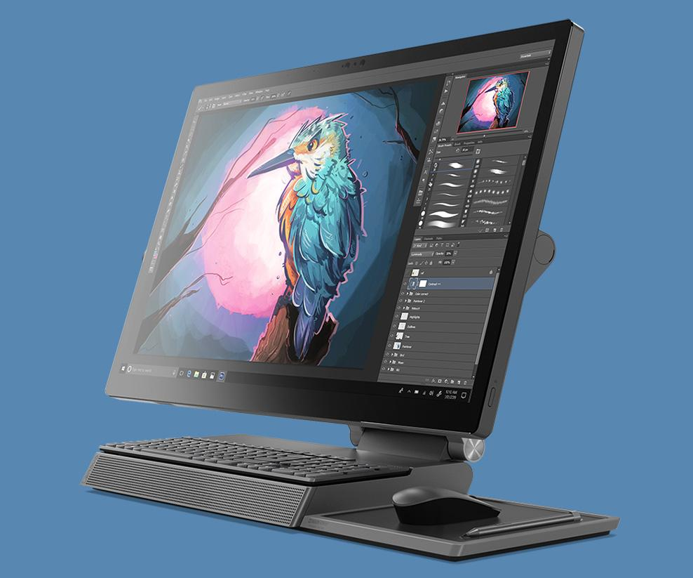 Lenovo's new PC for artists and designers is the oddest-looking desktop you can draw on