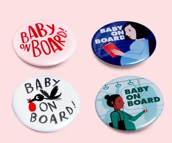 Illustrators including Marion Deuchars have redesigned the Baby on Board badge