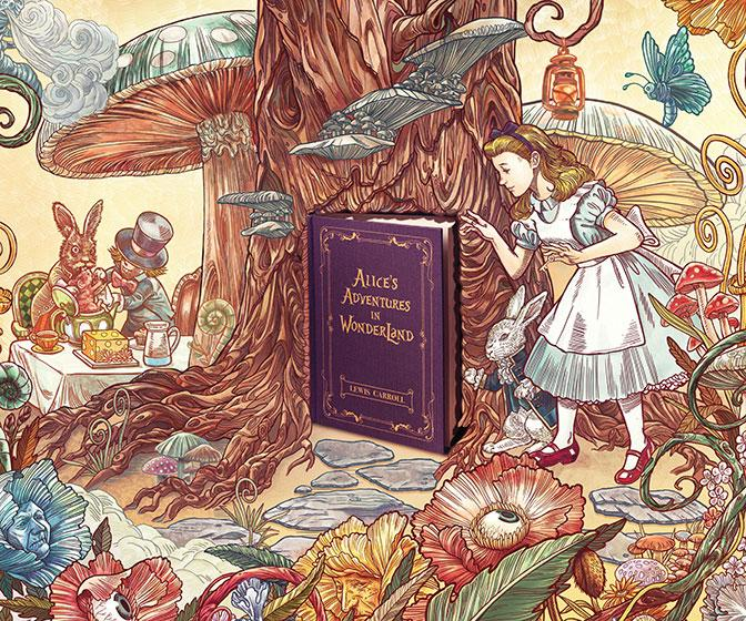 Lose yourself in a good book: Intricate illustrations bring classic novels to life for Penguin
